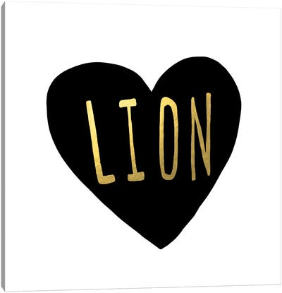 Lion Heart Canvas Art Print