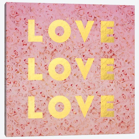 Love & Roses Canvas Print #LFS76} by Leah Flores Canvas Art Print