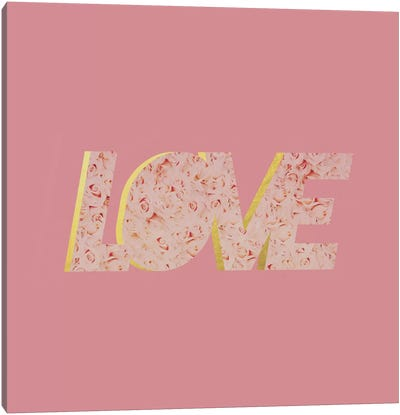 Love In Roses Canvas Art Print
