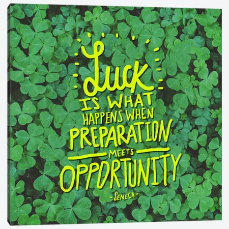 Luck Seneca Canvas Print #LFS78} by Leah Flores Canvas Artwork