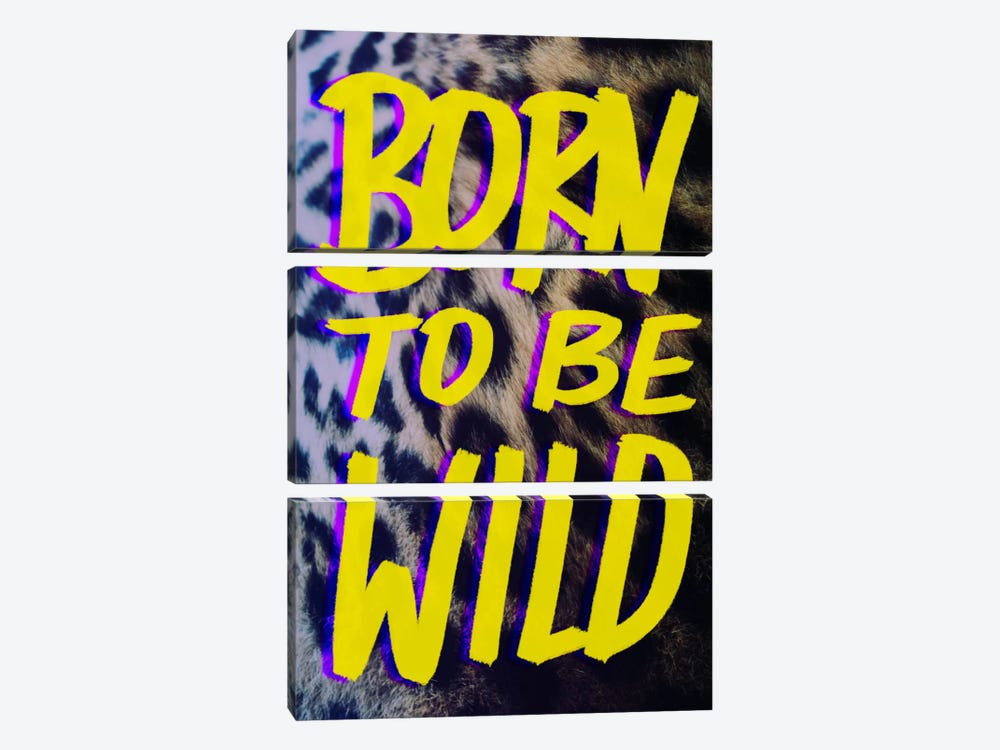 Born to Be Wild #2 by Leah Flores 3-piece Canvas Wall Art