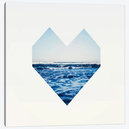 Ocean Heart S6 Canvas Print #LFS81} by Leah Flores Canvas Art Print