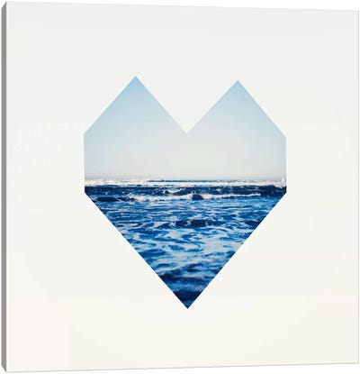 Ocean Heart S6 Canvas Art Print