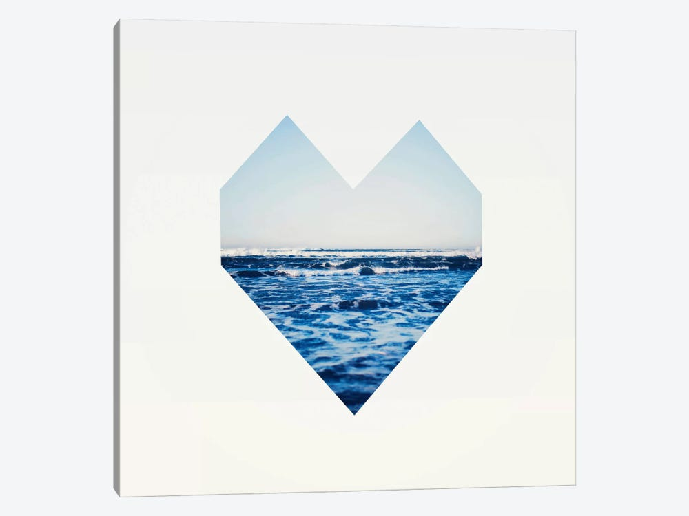 Ocean Heart S6 by Leah Flores 1-piece Canvas Art