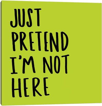 Pretend Canvas Art Print