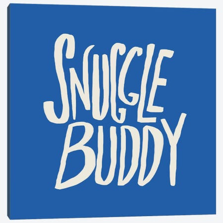 Snuggle Buddy X Blue Canvas Print #LFS85} by Leah Flores Canvas Art