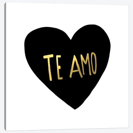 Te Amo Canvas Print #LFS86} by Leah Flores Canvas Art