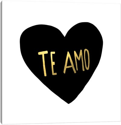 Te Amo Canvas Art Print