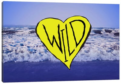 Wild Heart Waves Art Canvas Art Print