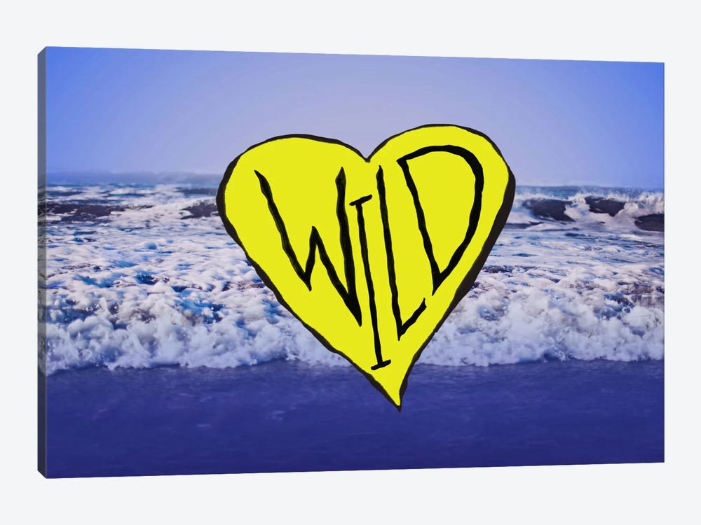 Wild Heart Waves Art by Leah Flores 1-piece Canvas Artwork