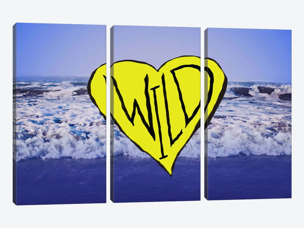 Wild Heart Waves Art by Leah Flores 3-piece Canvas Artwork