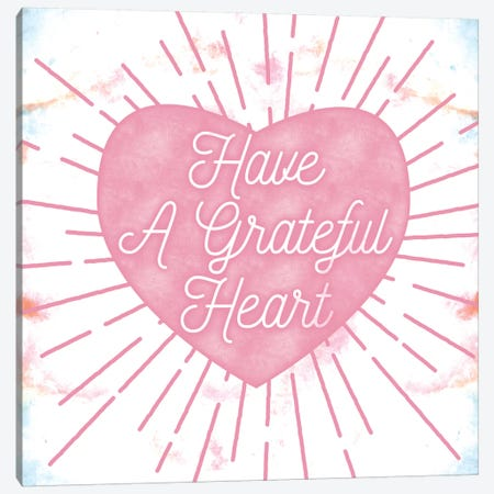 Grateful Heart Canvas Print #LFY2} by 5by5collective Art Print