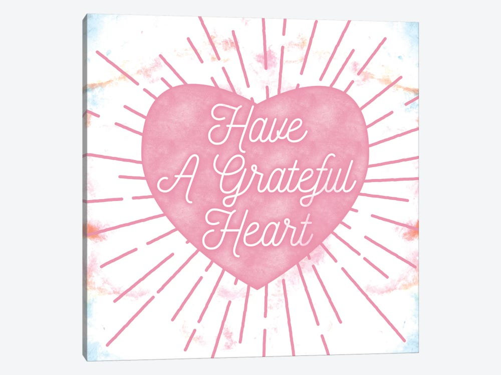 Grateful Heart by 5by5collective 1-piece Canvas Print