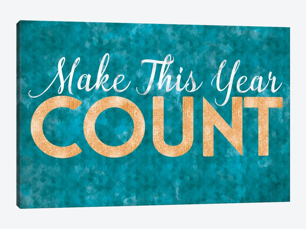 Make This Year Count by 5by5collective 1-piece Canvas Wall Art