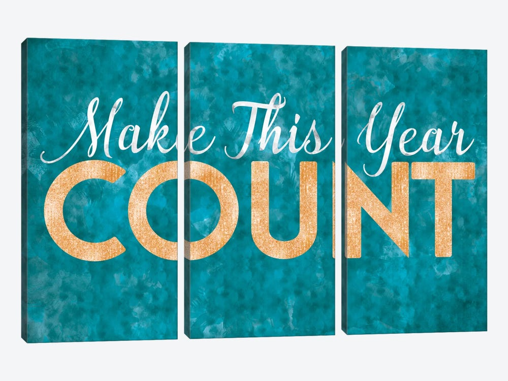 Make This Year Count by 5by5collective 3-piece Canvas Artwork