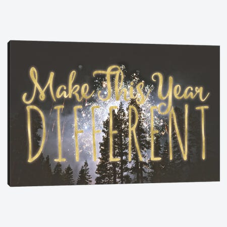 Make This Year Different Canvas Print #LFY4} by 5by5collective Canvas Art