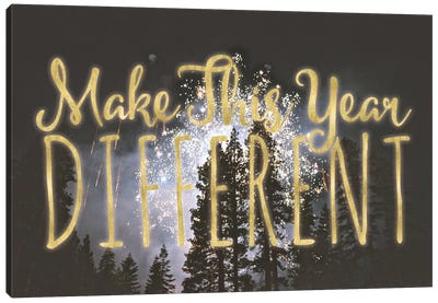 Make This Year Different Canvas Art Print