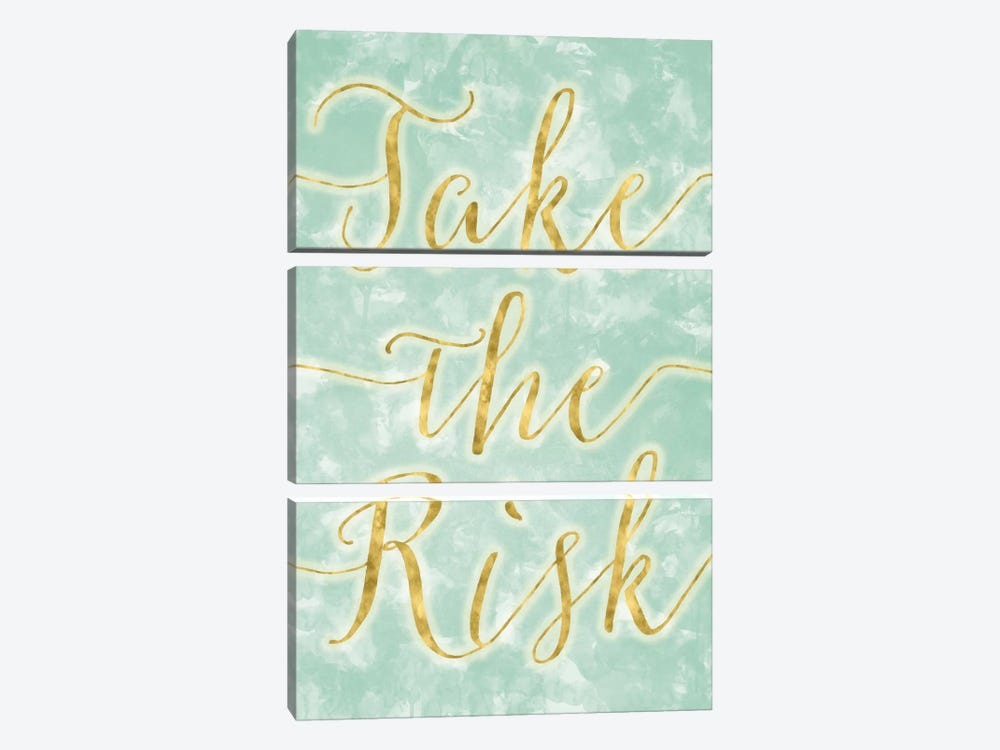 Take The Risk by 5by5collective 3-piece Canvas Wall Art