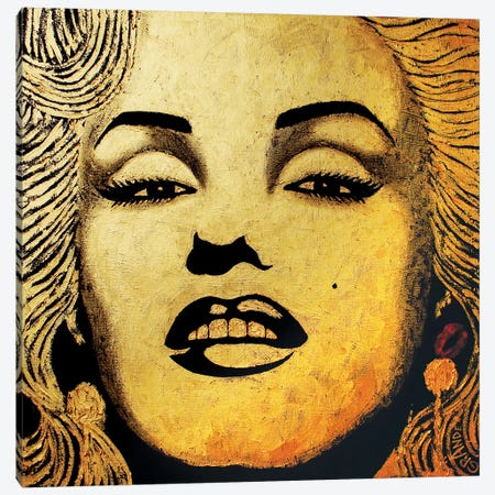 Gold Homage Marilyn Canvas Print #LGA11} by Alla GrAnde Canvas Print