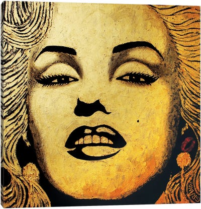 Gold Homage Marilyn Canvas Art Print
