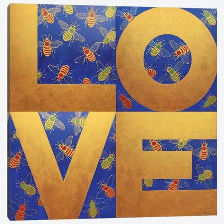 Love Bees Canvas Print #LGA125} by Alla GrAnde Art Print
