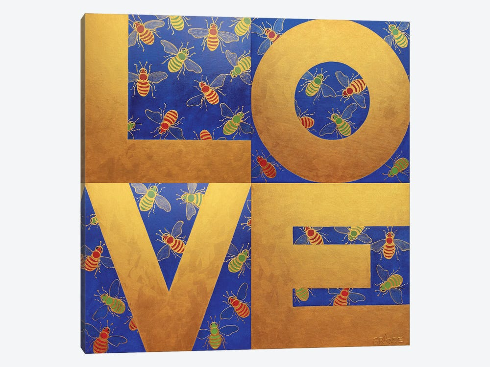 Love Bees by Alla GrAnde 1-piece Canvas Art Print