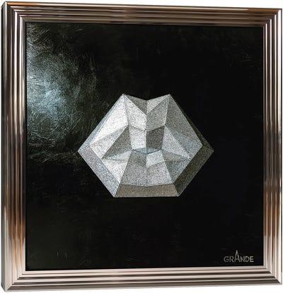 Diamond Lips Canvas Art Print