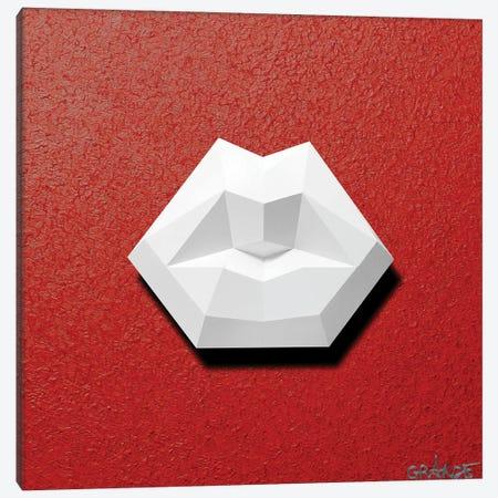 White Lips 3D Canvas Print #LGA133} by Alla GrAnde Canvas Art Print