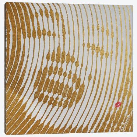 Marilyn Gold Stripes Canvas Print #LGA172} by Alla GrAnde Canvas Print