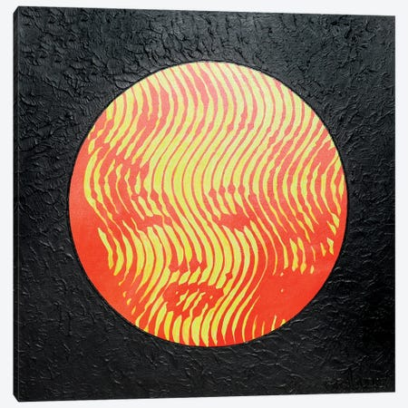 Marilyn Neon Red Canvas Print #LGA175} by Alla GrAnde Canvas Art