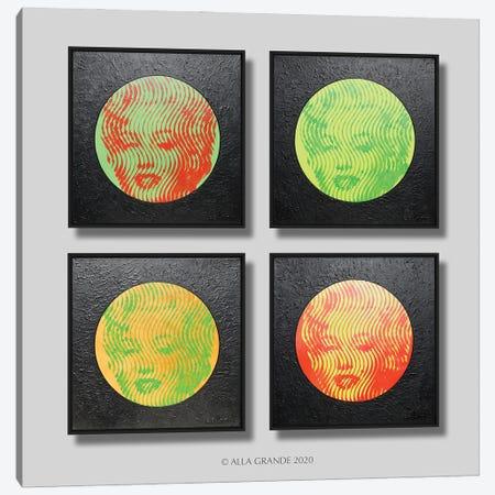 Marilyn Neon 4 Parts Canvas Print #LGA177} by Alla GrAnde Canvas Wall Art