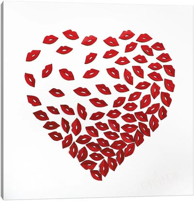 Kiss Of My Heart Canvas Art Print