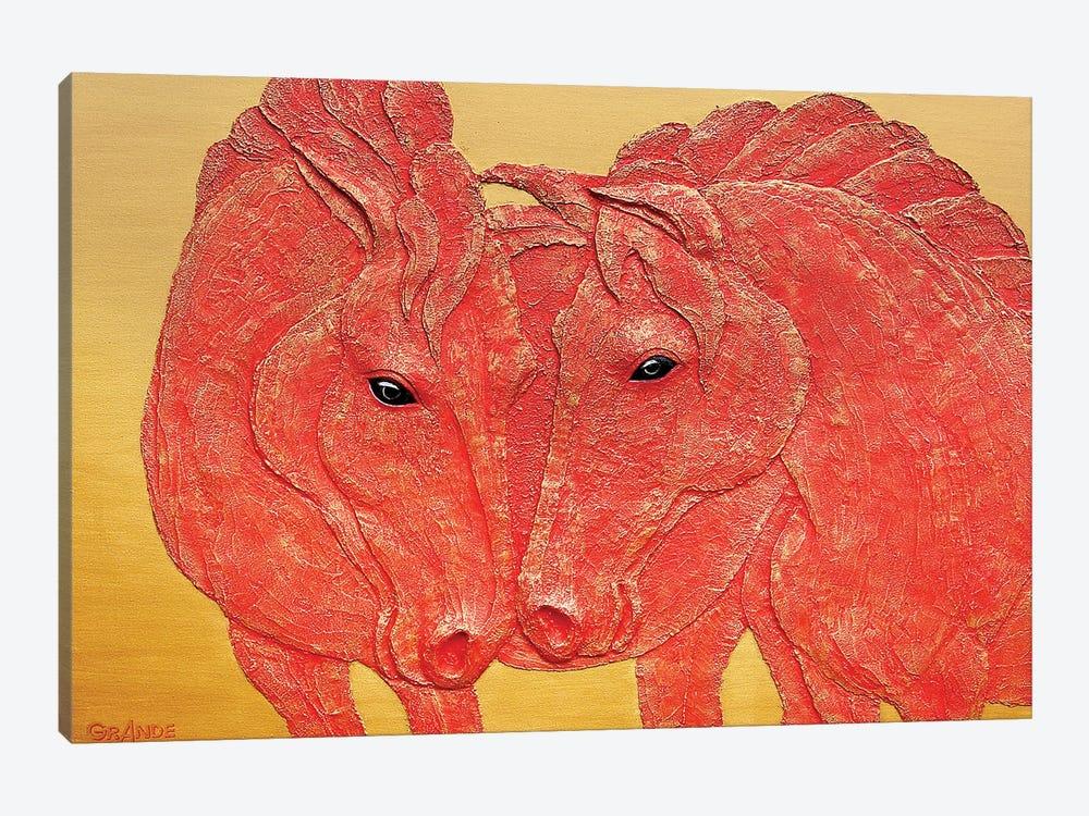 Horses In Love by Alla GrAnde 1-piece Canvas Wall Art
