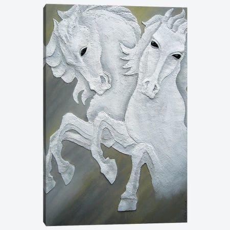 Two Horses Canvas Print #LGA189} by Alla GrAnde Canvas Artwork