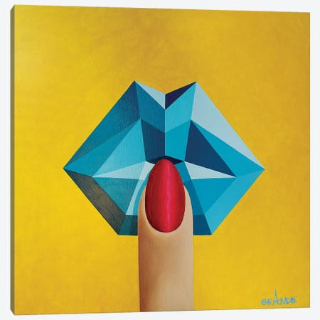 Kiss Of The Ocean Canvas Print #LGA18} by Alla GrAnde Canvas Print