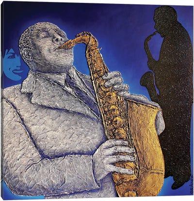 Blue-S-Jazz Canvas Art Print