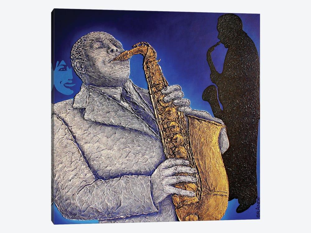 Blue-S-Jazz by Alla GrAnde 1-piece Canvas Art