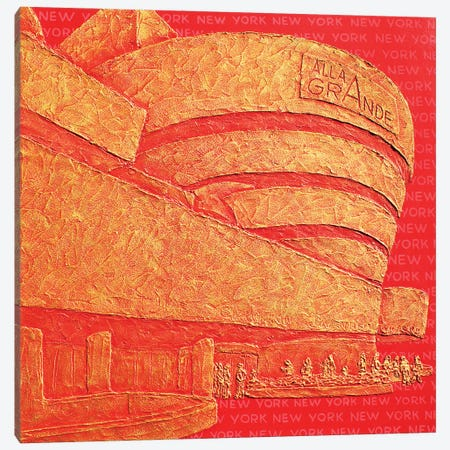Solomon Guggenheim Museum Canvas Print #LGA195} by Alla GrAnde Canvas Artwork