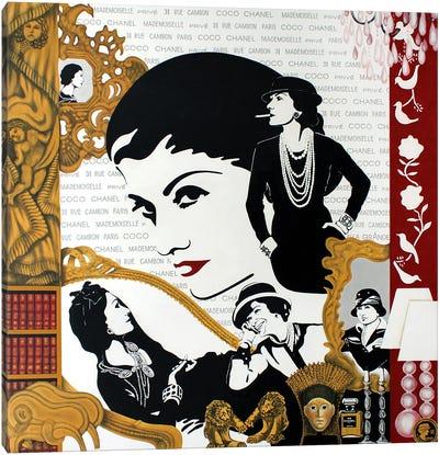 Coco Privé - Coco Chanel Life Canvas Art Print