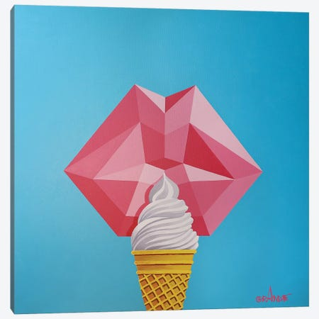 Love Ice Cream Canvas Print #LGA25} by Alla GrAnde Canvas Art Print