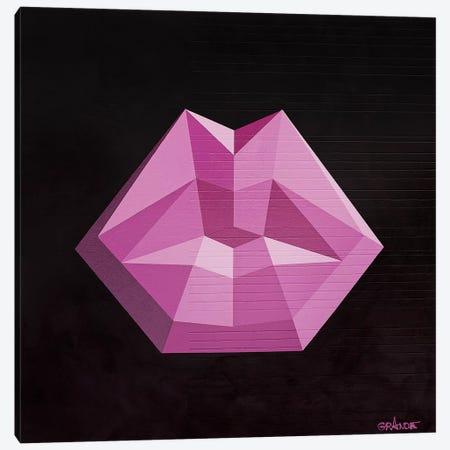 Magenta Lips Canvas Print #LGA26} by Alla GrAnde Canvas Print
