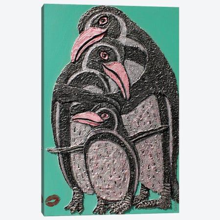 Penguin Love Canvas Print #LGA270} by Alla GrAnde Canvas Artwork