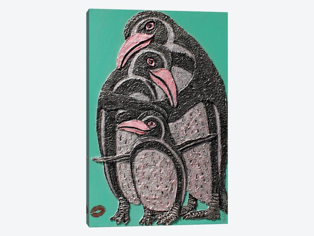 Penguin Love by Alla GrAnde 1-piece Art Print
