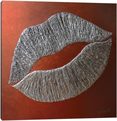 Silver Lips Canvas Art Print