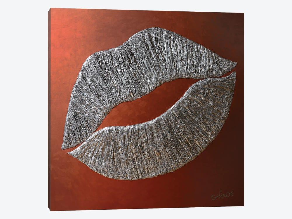 Silver Lips by Alla GrAnde 1-piece Art Print