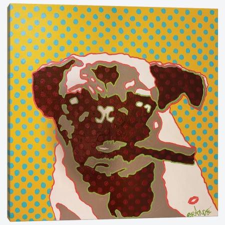 Pug Boss Canvas Print #LGA28} by Alla GrAnde Canvas Wall Art