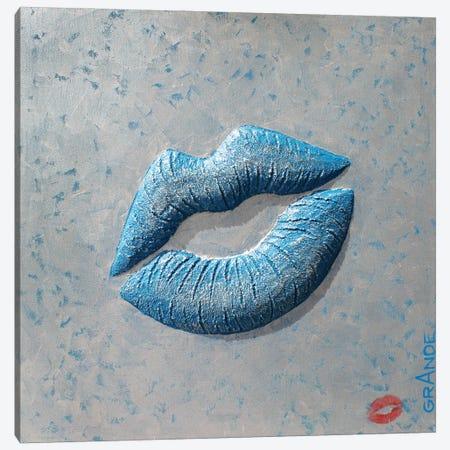 Love Blue Kiss Canvas Print #LGA292} by Alla GrAnde Canvas Wall Art