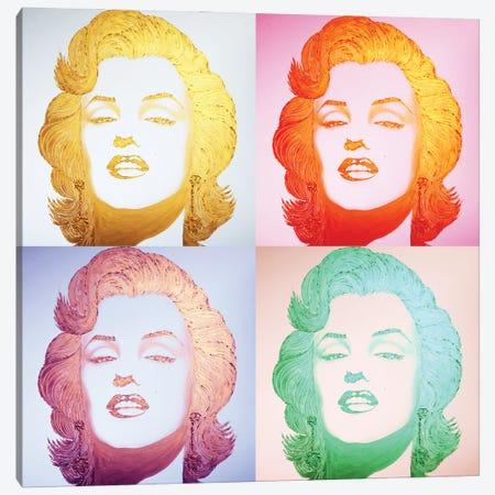 Gold Homage Marilyn Pop-Art Canvas Print #LGA298} by Alla GrAnde Canvas Art