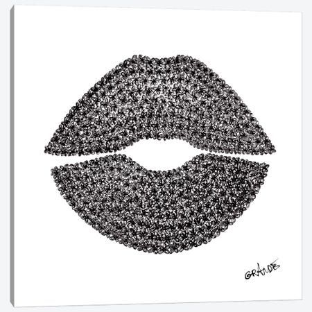 Black Lips Canvas Print #LGA2} by Alla GrAnde Canvas Print