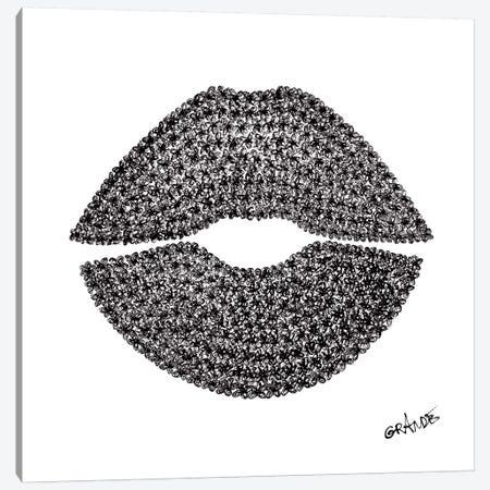 Black Lips Canvas Print #LGA2} by Alla GrAnde Canvas Print